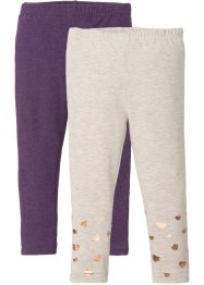 Leggings con glitter (pacco da 2), bpc bonprix collection