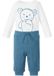 Body a manica lunga + pantalone in jersey (set 2 pezzi), bpc bonprix collection