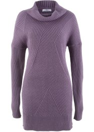 Pullover lungo a collo alto, bpc bonprix collection