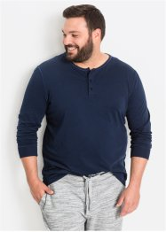 Maglia a manica lunga con bottoncini regular fit, bpc bonprix collection
