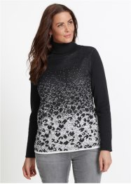 Pullover jacquard a collo alto, bpc selection