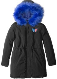 Parka con cappuccio ed ecopelliccia, bpc bonprix collection