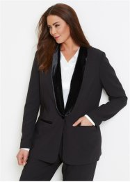 Blazer con revers in velluto, bpc selection