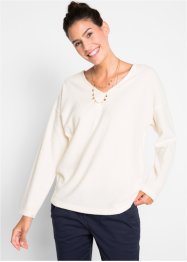 Pullover in pile con scollo a V, bpc bonprix collection