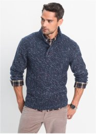 Pullover melange con cerniera regular fit, bpc bonprix collection