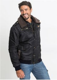 Giacca con collo in pellicciotto sintetico regular fit, John Baner JEANSWEAR