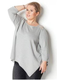 Pullover con fondo a punte e manica a 3/4 Maite Kelly, bpc bonprix collection