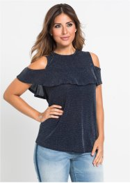 Top in lurex con spalle scoperte, BODYFLIRT