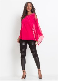 Blusa in maglina con strass, BODYFLIRT boutique