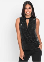 Top in lurex con collarino, BODYFLIRT
