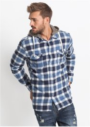 Camicia in flanella slim fit con cappuccio staccabile in felpa, RAINBOW