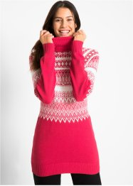 Pullover a collo alto con perle, bpc bonprix collection