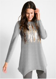 Maglia asimmetrica con paillettes, bpc bonprix collection