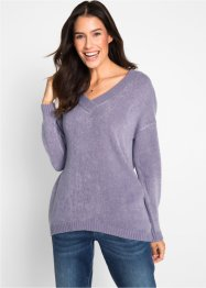 Pullover oversize con scollo a V profondo, bpc bonprix collection
