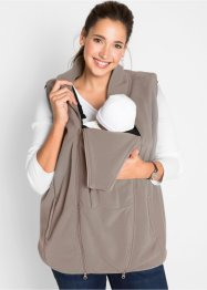 Gilet prémaman in pile con porta-bimbo, bpc bonprix collection