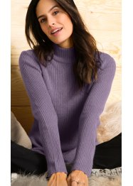 Pullover dolcevita a costine, bpc bonprix collection
