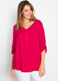 Blusa in viscosa con scollo a V, bpc bonprix collection