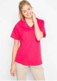 T-shirt lunga con scollo a V (pacco da 5), bpc bonprix collection