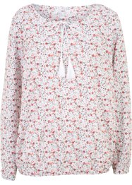 Blusa in cotone a manica lunga, bpc bonprix collection