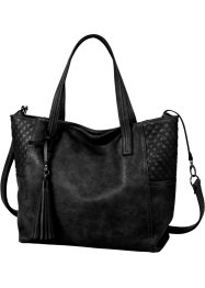 Borsa shopper con trapuntature e nappina, bpc bonprix collection