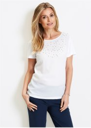 Blusa in maglina con perle, bpc selection