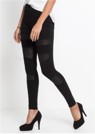 Leggings con similpelle, RAINBOW