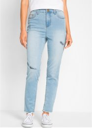 Jeans a vita alta con zone sdrucite Maite Kelly, bpc bonprix collection