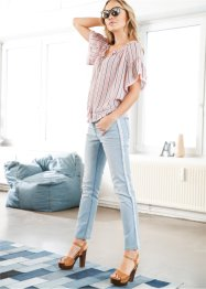 Jeans relaxed con frange, RAINBOW