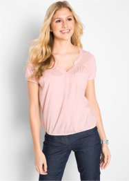 Blusa in maglina a manica corta, bpc bonprix collection