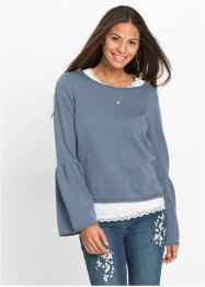 Pullover con top in pizzo (set 2 pezzi), RAINBOW