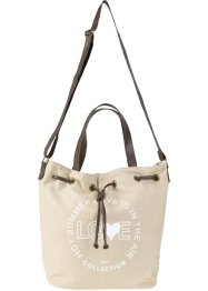 Borsa a sacchetto in canvas, bpc bonprix collection
