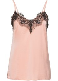 Top in satin con pizzo, BODYFLIRT
