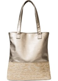 Borsa shopper con rafia, bpc bonprix collection