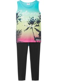Top con stampa fotografica + leggings 3/4 (set 2 pezzi), bpc bonprix collection