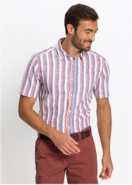 Camicia a righe a manica corta regular fit, bpc selection