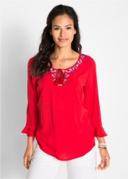 Blusa ricamata con manica a 3/4, bpc bonprix collection