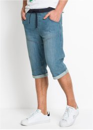 Bermuda lungo in jeans loose fit, RAINBOW