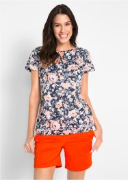 Blusa in cotone a manica corta, bpc bonprix collection