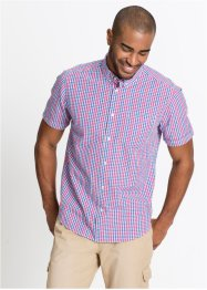 Camicia a manica corta in seersucker regular fit, bpc bonprix collection