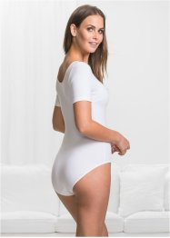 Body a mezze maniche con cotone biologico, bpc bonprix collection