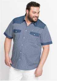Camicia con denim a manica corta regular fit, John Baner JEANSWEAR