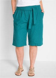 Pantaloncino in misto lino con cintura, bpc bonprix collection