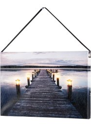 "Quadretto con luci LED ""Pontile"", bpc living"