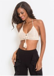 Top all'uncinetto con stringatura, BODYFLIRT boutique