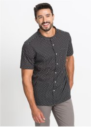 Camicia a pois con manica corta regular fit, bpc bonprix collection