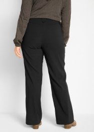 Pantaloni elasticizzati in bengalina con cinta regolabile straight, bpc bonprix collection