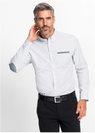 Camicia a manica lunga in microfantasia regular fit, bpc selection