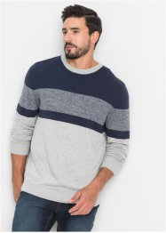 Pullover a righe regular fit, John Baner JEANSWEAR
