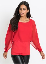 Top in jersey con chiffon, BODYFLIRT