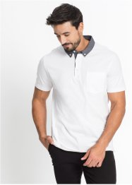 Polo con colletto in tessuto regular fit, bpc bonprix collection